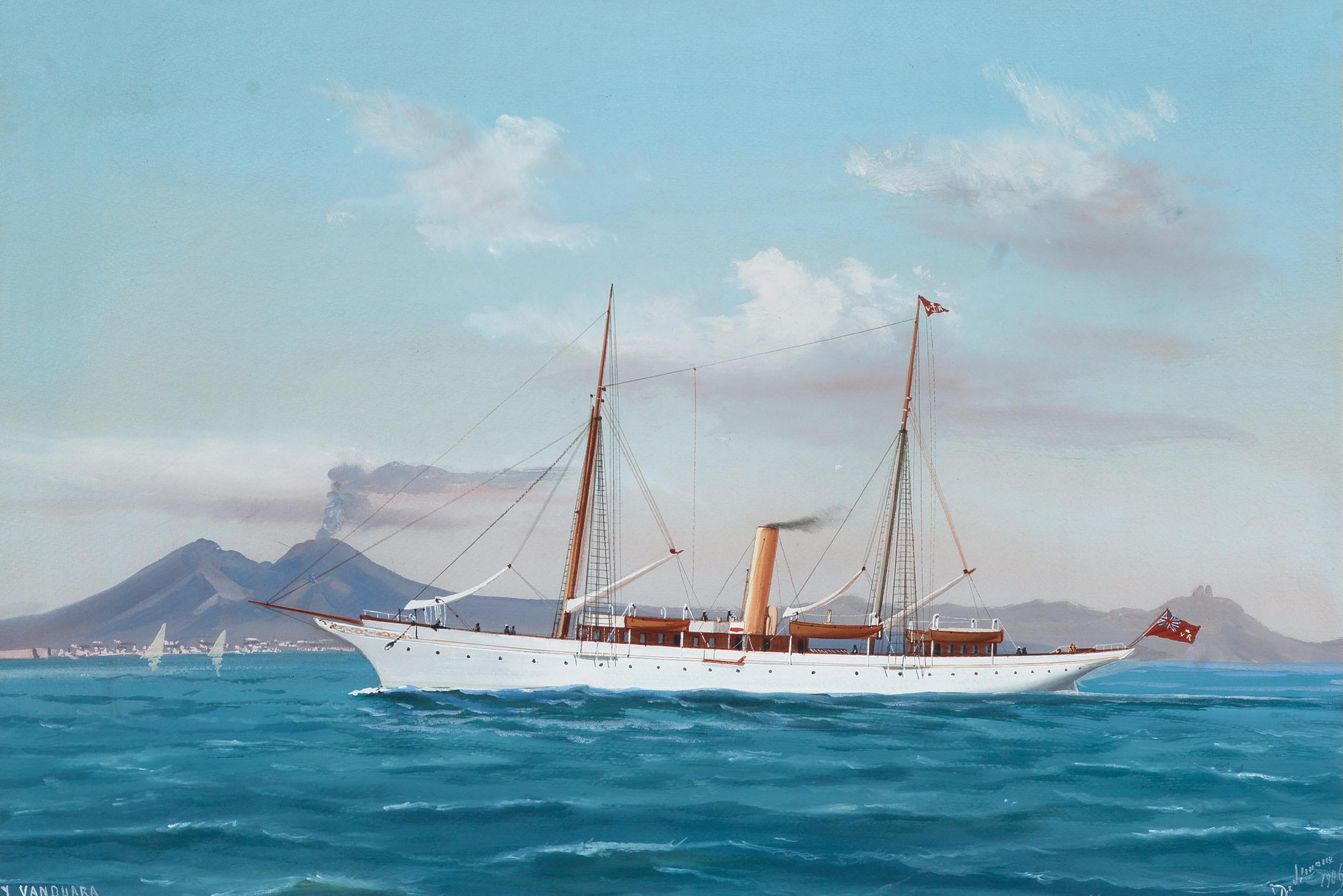 FilePainting Of Steam Yacht SY Vanduara By De Simone 1906jpg Wikimedia Commons