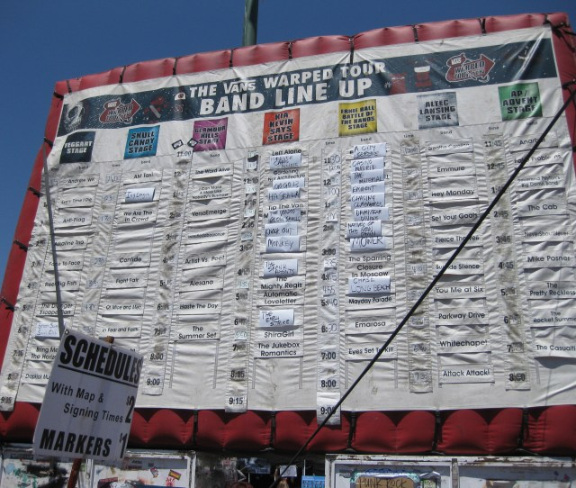 Favorite Band Will Be Playing You Can Buy A Schedule From Nearly Any Kiosk Or You Can Just Look For The Giant Inflatable Board That Boasts The Lineup
