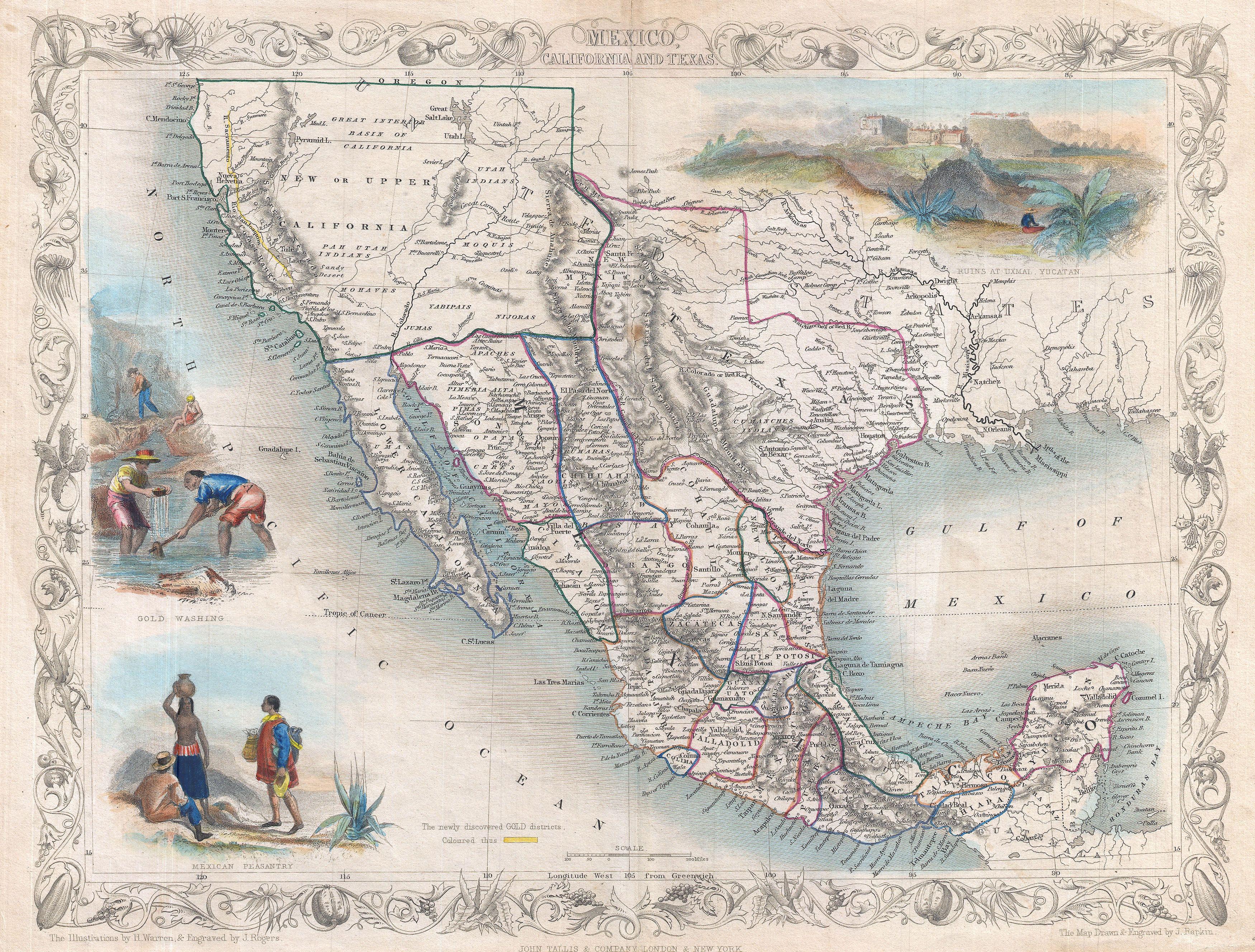 Greater Mexico Circa 1851