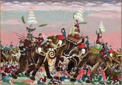 Bataille entre l'armée Siamoise et Birmane.