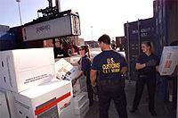 U.S. Customs and Border Protection inspectors ...