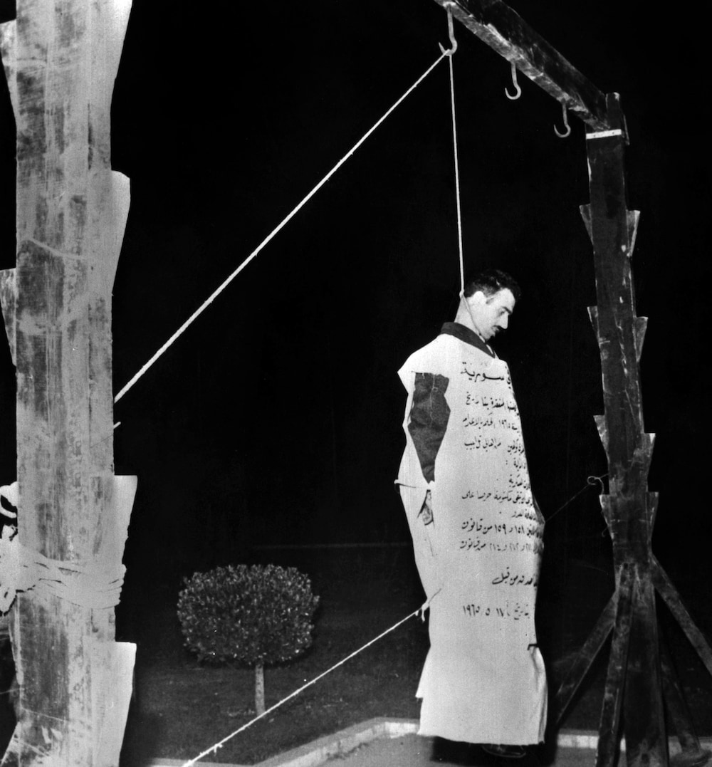 Eli Cohen was publicly hanged by Syria on May ...