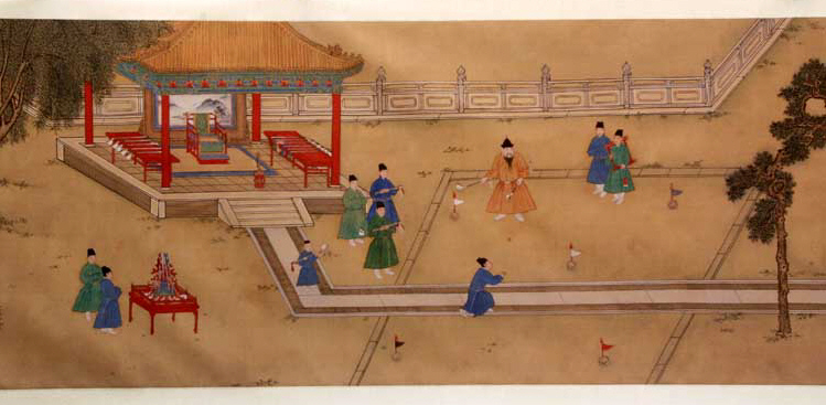 File:Ming Emperor Xuande playing Golf.jpg