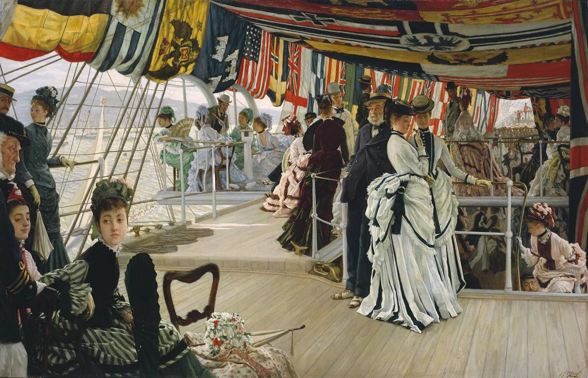 English: Oil painting, Ball on Shipboard by Ja...