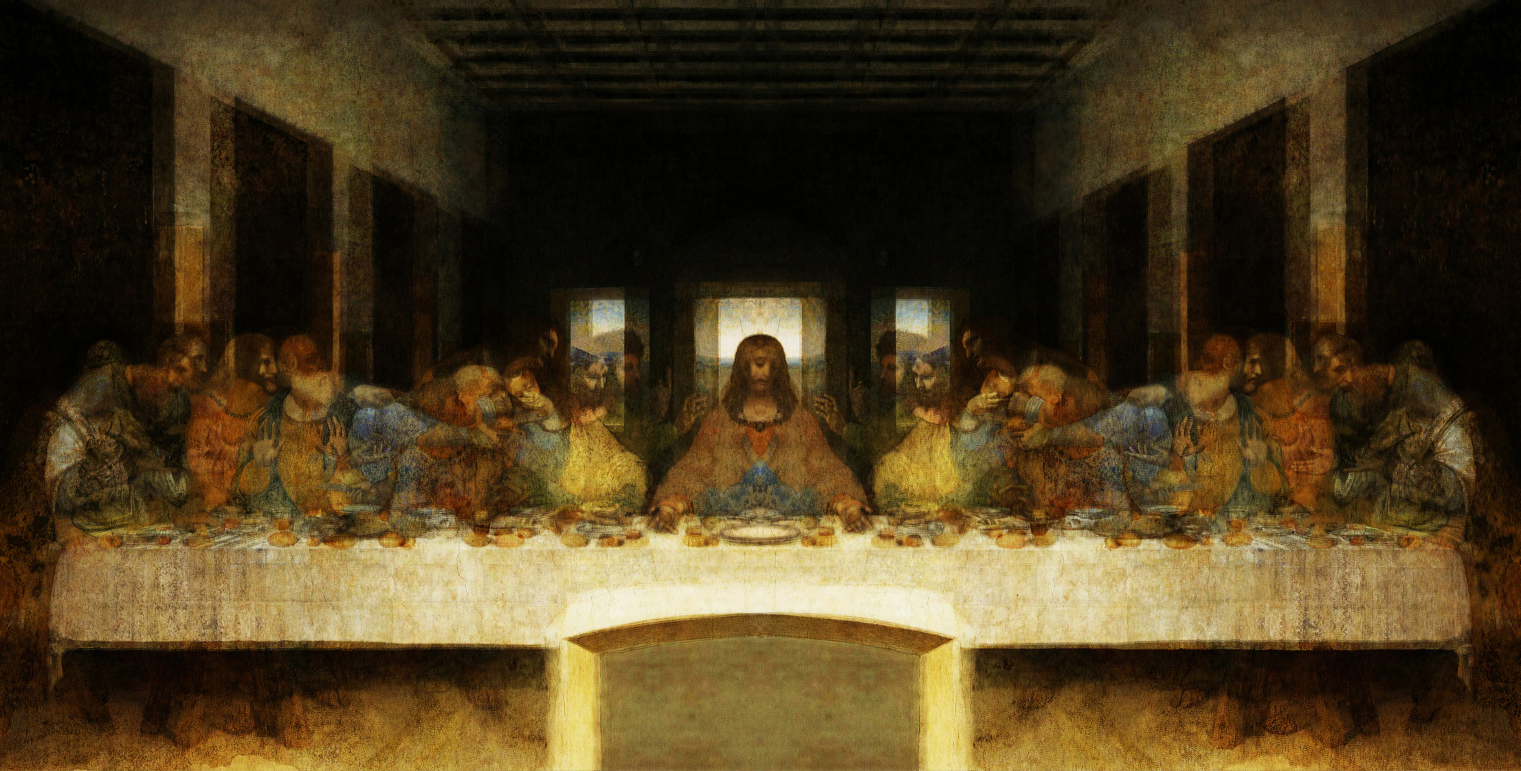Wow Hidden Image Exposed In The Last Supper Painting