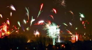Fireworks in Zwickau