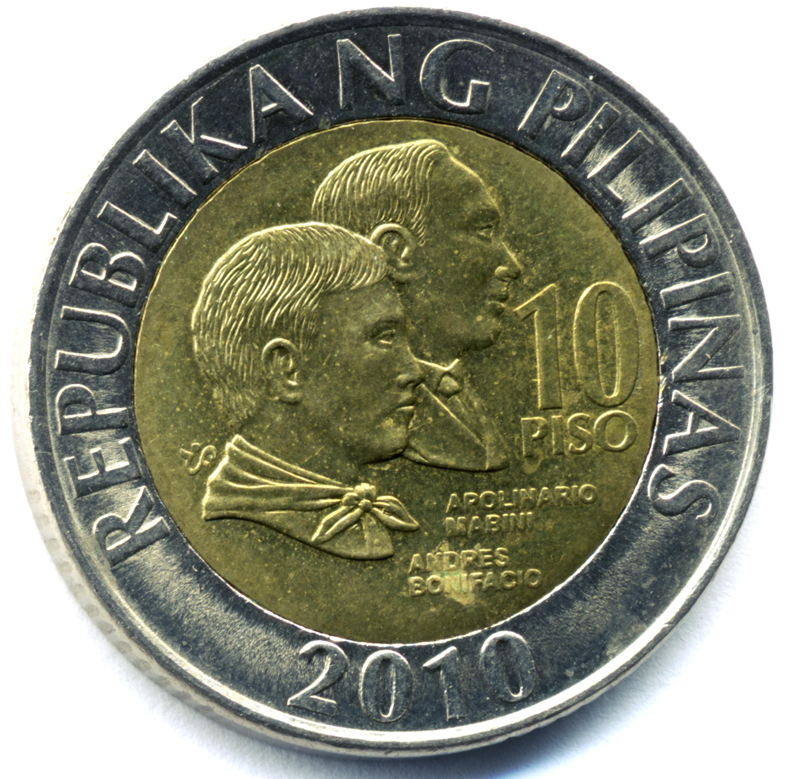 Philippine Ten Peso Coin