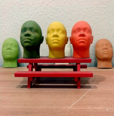 Face models printed on the 3D-printer (Wikipedia)