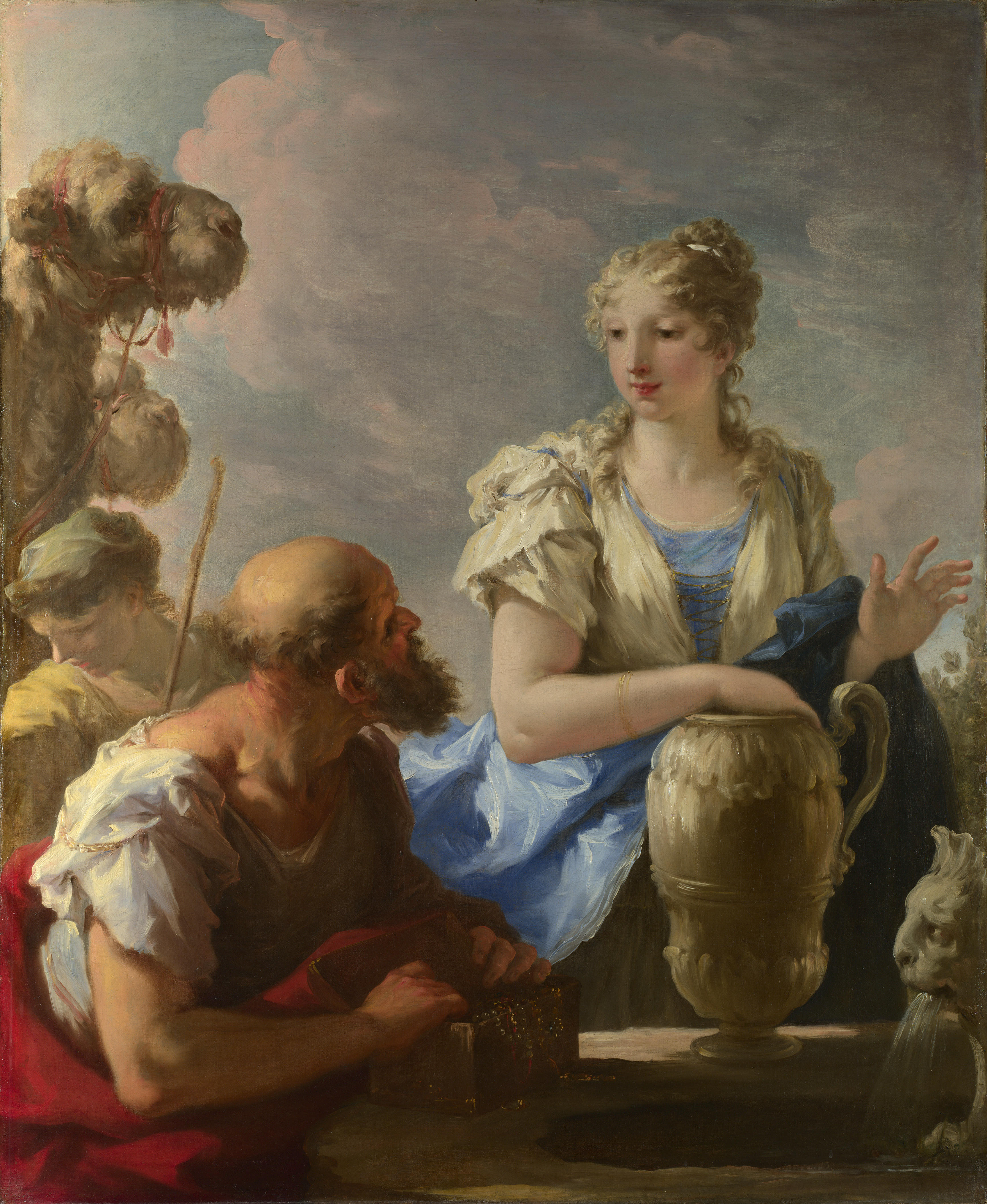 English: Rebecca at the well