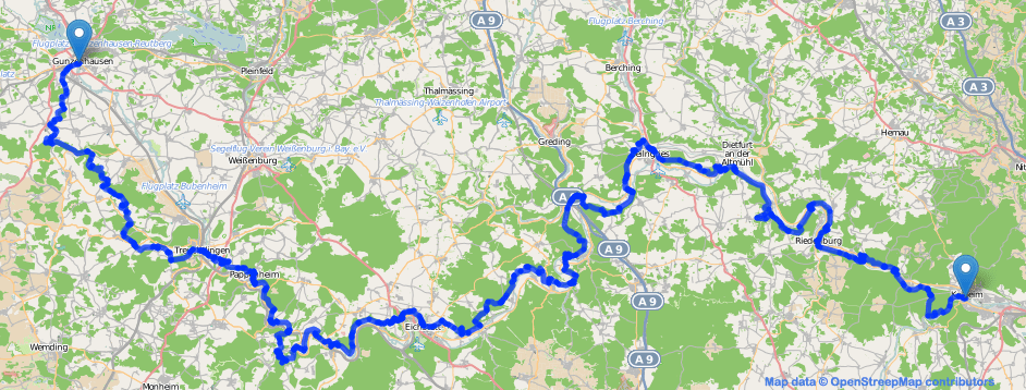 Altmühltal-Panoramaweg (Karte)