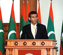 English: Mohamed Nasheed, President of the Mal...