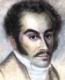 Portrait of Bolívar made in Haiti in 1816.