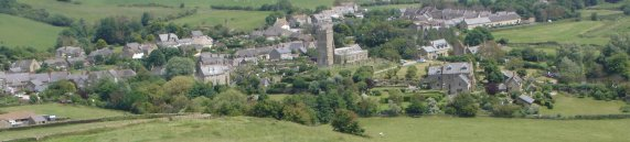 A panoramic view of Abbotsbury, Dorset