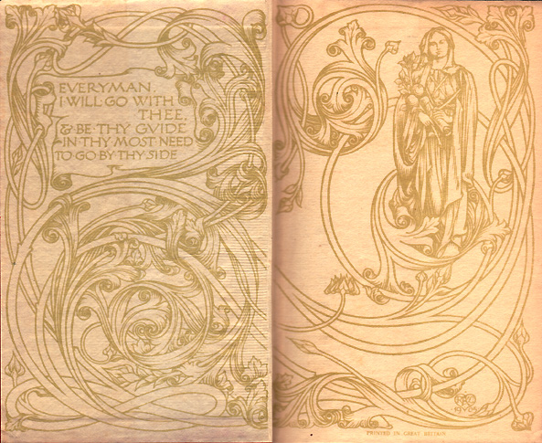 Endpapers of the original run of books in the ...