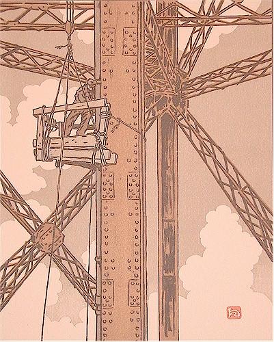 Henri Rivière ouvrier plombier travaillant sur la tour Eiffel.jpg