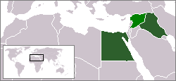 Map of the United Arab Republic, a former plan...