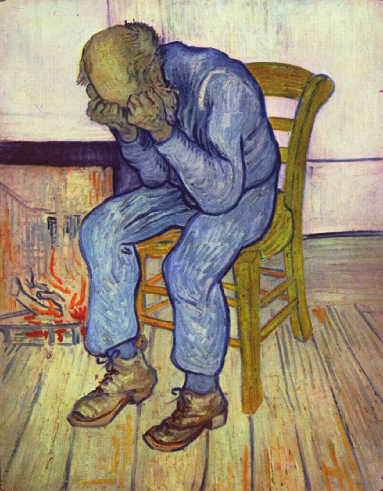 Pintura de Vincent van Gogh Anciano afligido de 1890. Fuente Wikipedia