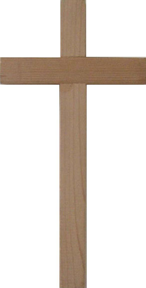 A plain wooden cross. Photo taken by Krupo