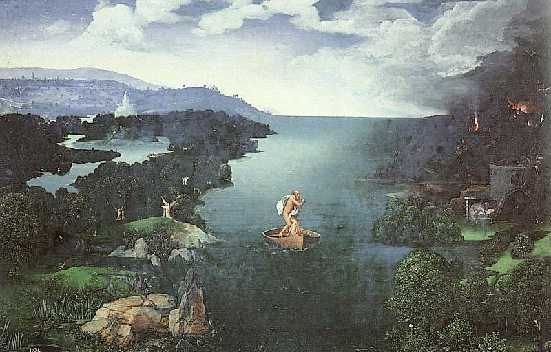 Joahim Patenier, Charon, 1515 (Museum Prado w Madrycie)