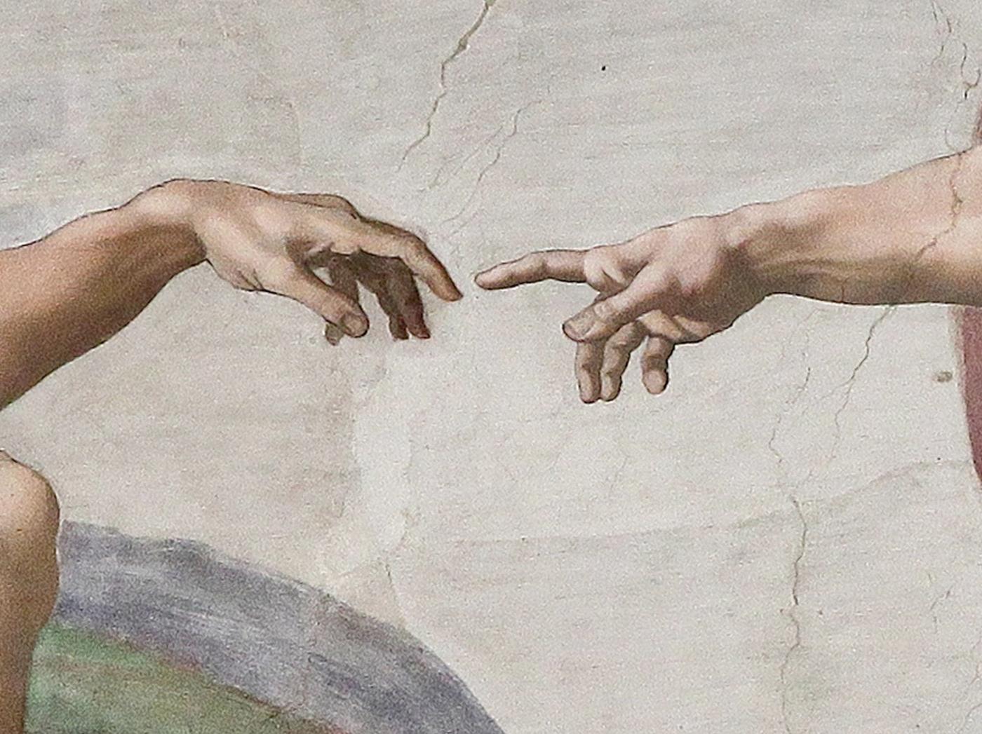 Wiki commons: Creation_of_Adam_(Michelangelo)_Detail.jpg (400 × 299 pixels, file size: 49 KB, MIME type: image/jpeg)