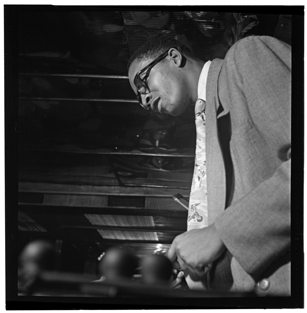 Milt Jackson, vibraphonist, playing in New York between 1946 and 1948