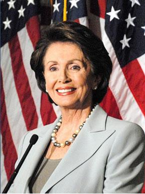 Speaker of the House Nancy Pelosi (D - California)