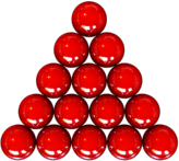 Triangle of the 15 reds in snooker. Note: This...