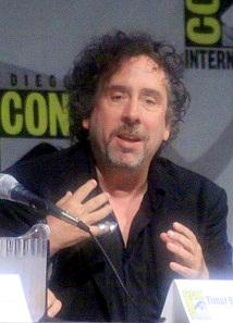 English: Tim Burton, speaking at ComicCon 2009