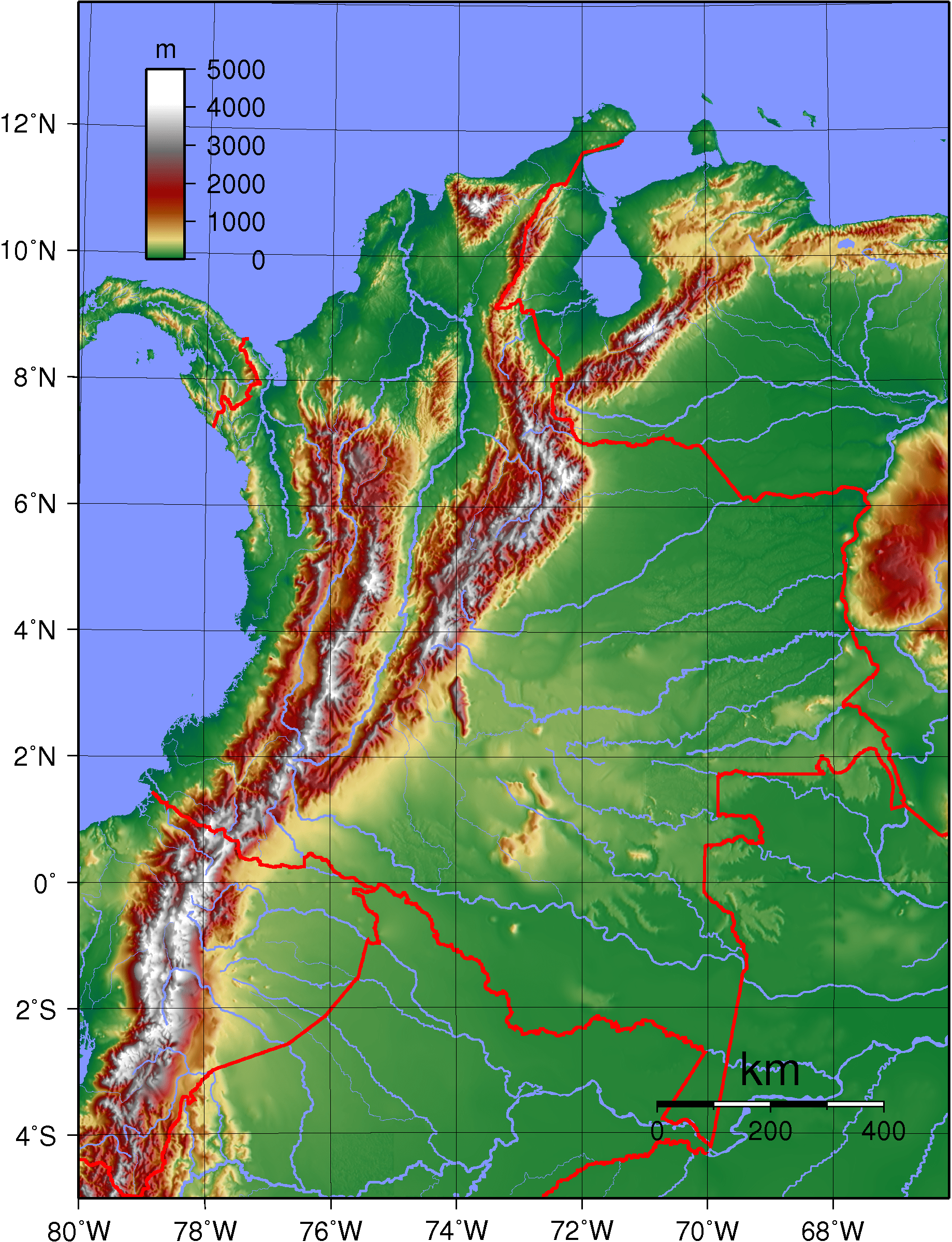 Map Manizales Colombia
