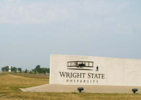 Entrance to Wright State University -- Photo by K. Shimada [GFDL (www.gnu.org/copyleft/fdl.html) or CC-BY-SA-3.0-2.5-2.0-1.0 (www.creativecommons.org/licenses/by-sa/3.0)], via Wikimedia Commons