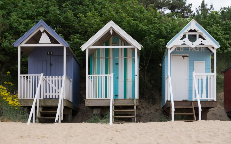 Image result for DeFacto. Beach huts at Wells-next-the-Sea