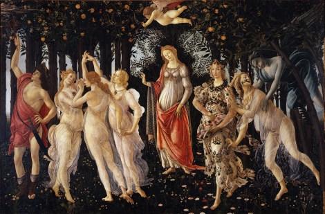 Primavera by Sandro Botticelli, 1482