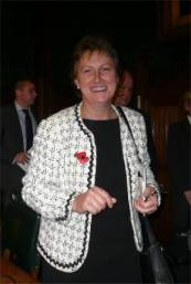 English: Gisela Stuart at the House of Commons...