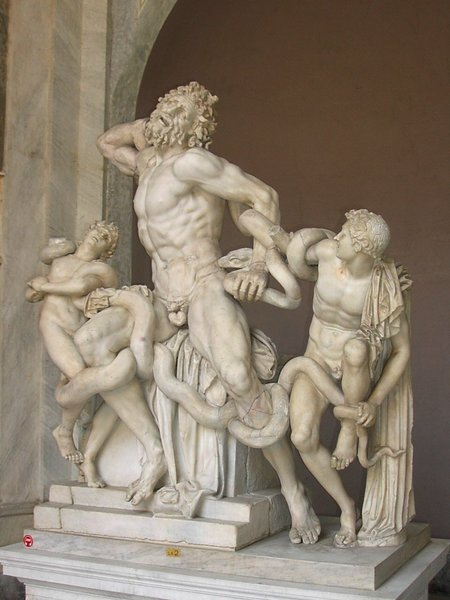 Agesander, Polidor i Atenodor z Rodos, grupa Laokoona (Muzea Watykańskie)