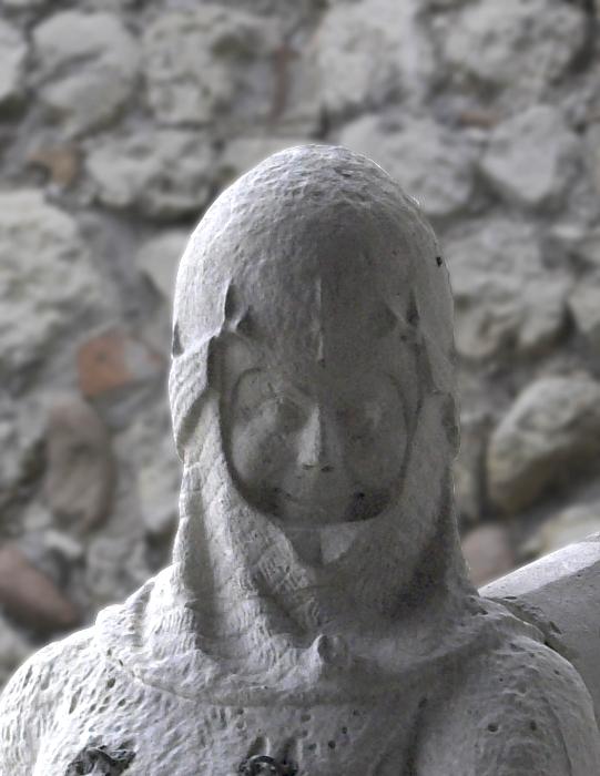 Particolare di una statua raffigurante Cangrande