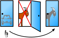 Illustration for Monty Hall problem