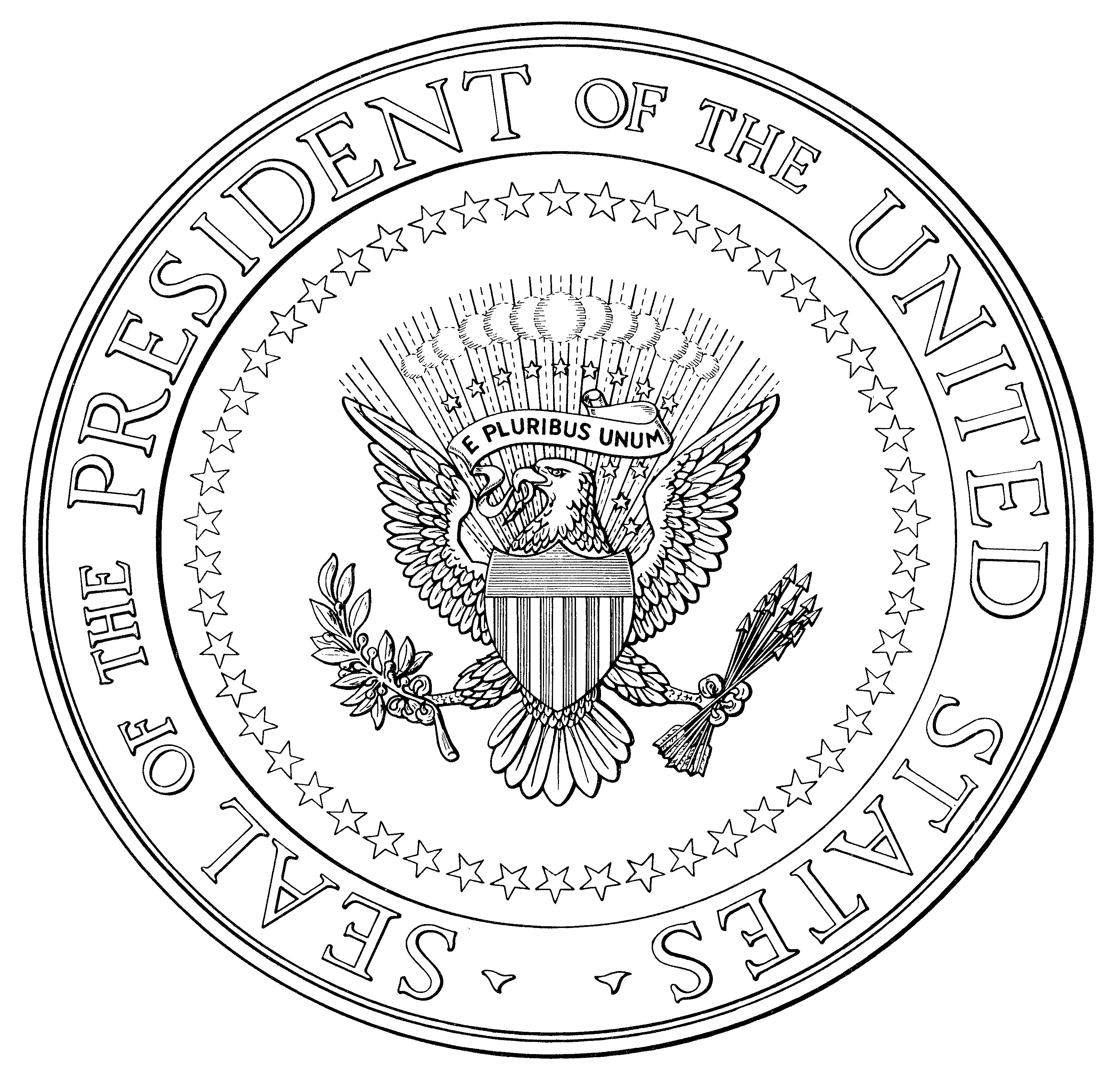 File Us Seal Of The President Exec Order Illustration