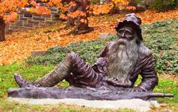 Life size bronze of Rip Van Winkle sculpted by...