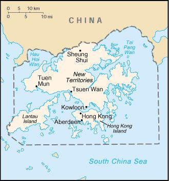 Map of colonial Hong Kong