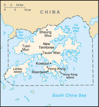 Map of colonial Hong Kong