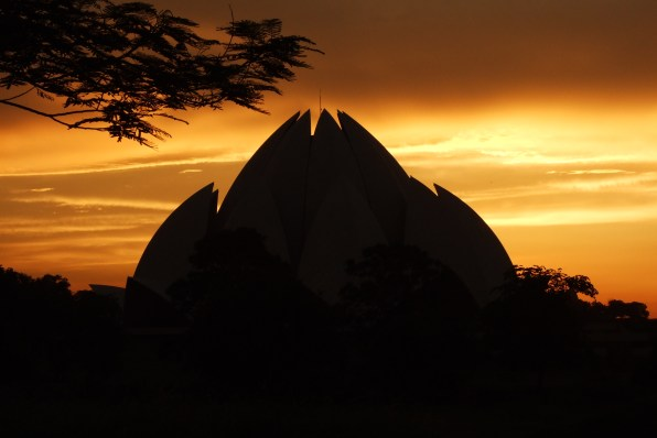 Image result for lotus temple SUNRISE