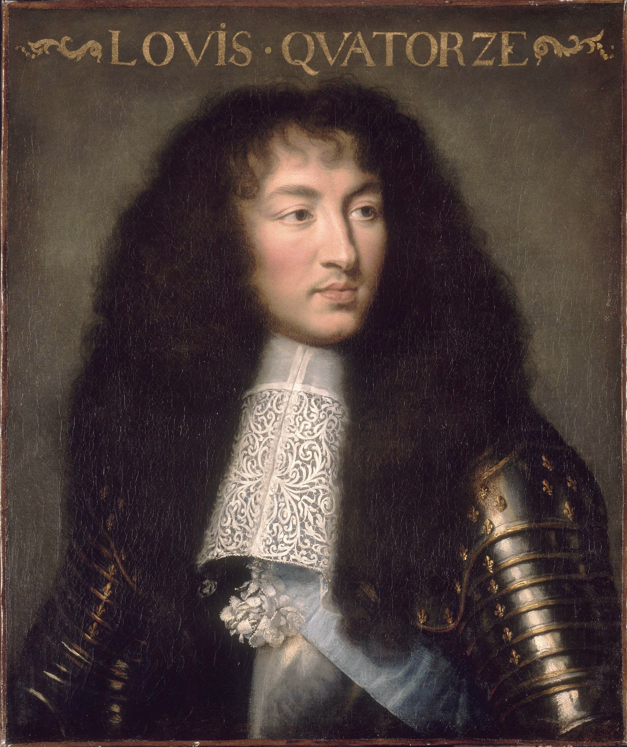 Portrait of Louis XIV. Le Brun, Charles (1619-1690).