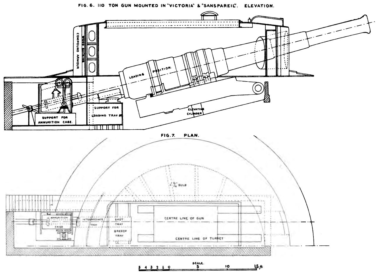Bl 16 25 Inch Gun Turret Diagrams Brasseys