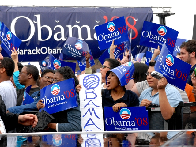 A few Obama fans