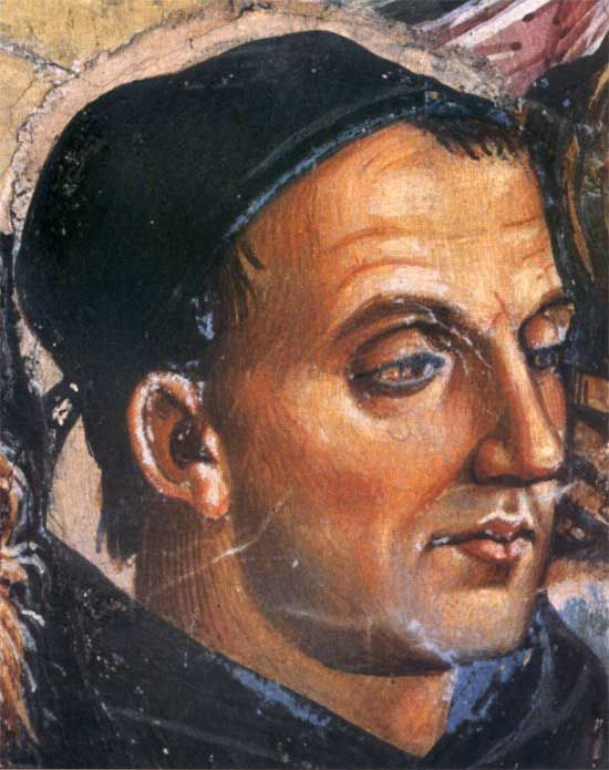 Posthumous portrait of Fra Angelico by Luca Si...