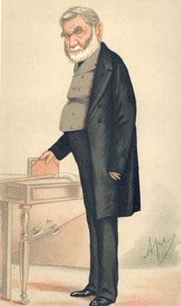 Caricature of Anthony Panizzi (1797-1879). Cap...