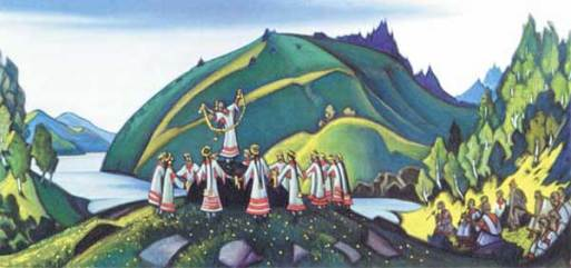 """Nicholas Roerich's """"Rite of Spring"""" painting"""