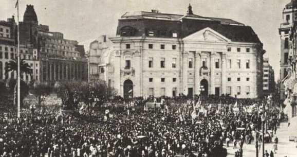 Perón y masas