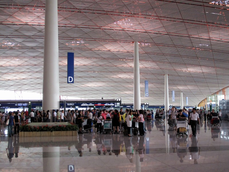 Beijing Capital International Airport   Wikipedia Main hall of Terminal 3