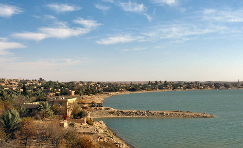 An Iraqi city by the grand Euphrates river.